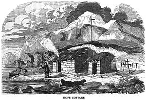 Engraving of Hope Cottage.