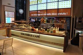 Interior of Columbus Cafe at Boulevard des Capucines.