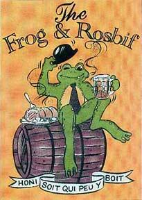 Frog & Rosbif poster, Bordeaux.
