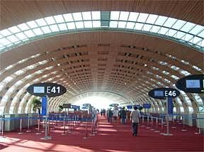 CDG Terminal 2E Departure Lounge.