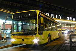 Paris By Train shuttle bus at Orly Airport.