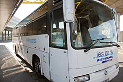 Air France coach at Orly Airport.