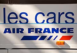 Side panel of an Air France coach.