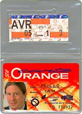 Carte Orange card and ticket in plastic sleeve