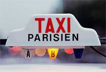 Former Taxi Parisien rooftop sign.